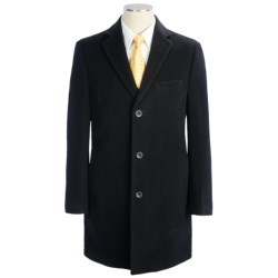 Cardinal of Canada Michael Wool Coat - Notch Lapel, Single Breasted (For Men) in Black