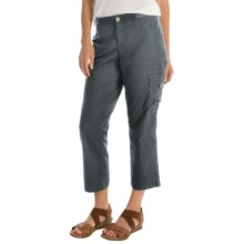 Cargo Capris with Knit Waistband (For Women) in Navy - 2nds