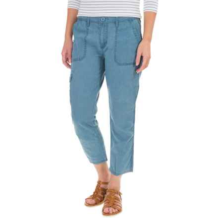 Cargo Pocket Capris (For Women) in Blue - 2nds