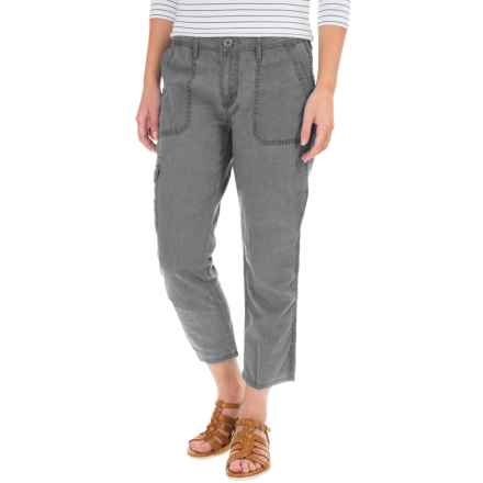 Cargo Pocket Capris (For Women) in Grey - 2nds