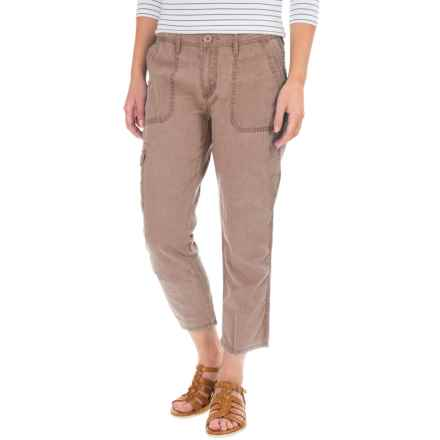 Cargo Pocket Capris (For Women) in Khaki - 2nds