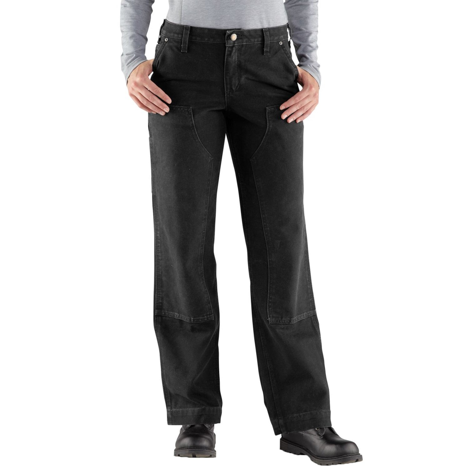 cheaper 504ae 88ed3 Carhartt 100681 Kane Double-Front Dungaree Jeans - Relaxed Fit, Factory  Seconds (For Women)