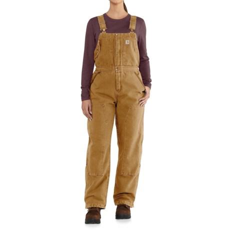 63c678b63b3 Carhartt 102743 Weathered Duck Wildwood Bib Overalls - Insulated, Factory  2nds (For Women)