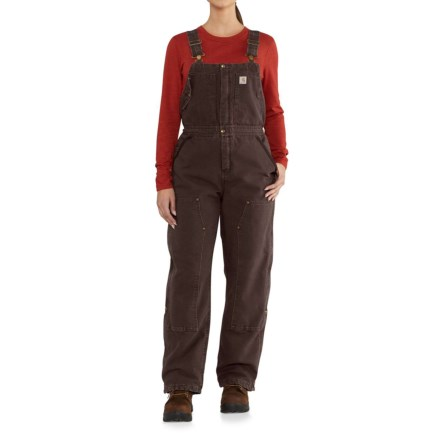 b677c9906 Carhartt 102743 Weathered Duck Wildwood Bib Overalls - Insulated, Factory  2nds (For Women)