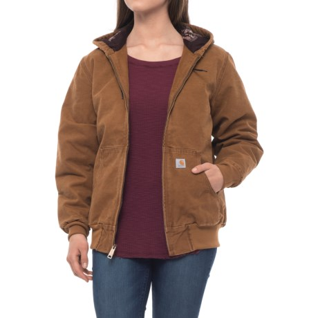 dc83cdda00ced Carhartt 102745 Sandstone Active Lined Jacket - Factory Seconds (For Women) in  Carhartt Brown
