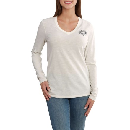 53ecb3ce0e18e Carhartt 102762 Wellton Graphic Stripe Logo T-Shirt - Long Sleeve (For Women )