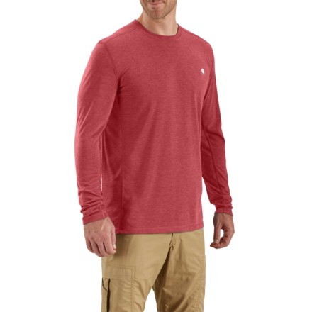 52d0a36a Carhartt 102998 Force Extremes T-Shirt - Long Sleeve (For Men) in Crimson