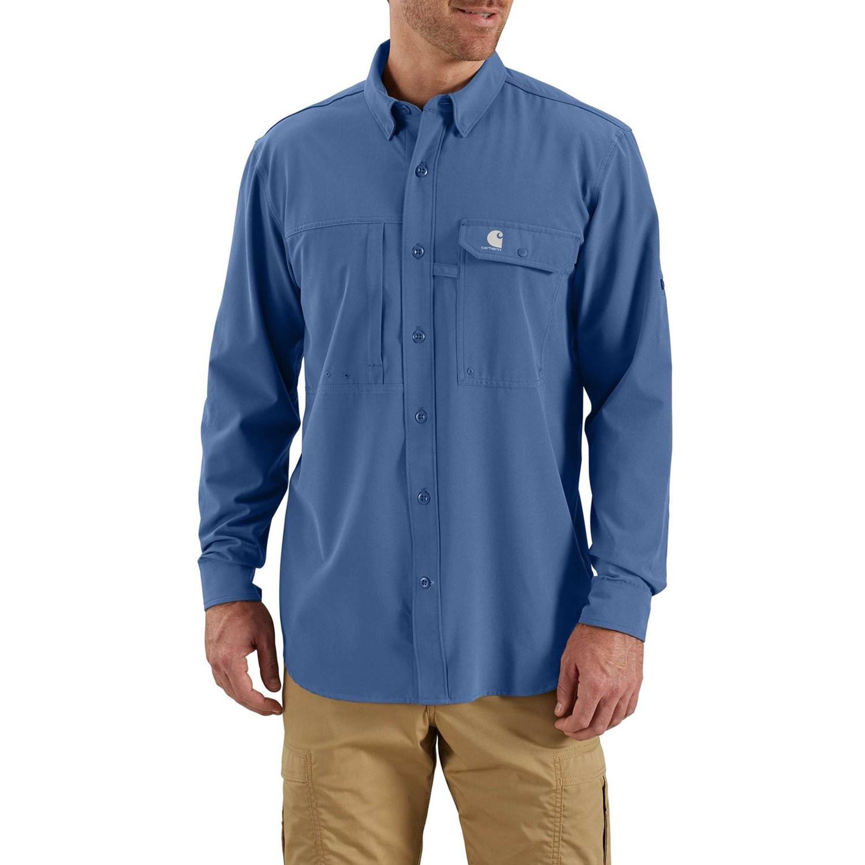88da7ecf Carhartt 103011 Force Extremes® Angler Shirt - UPF 40, Long Sleeve (For Men  ...