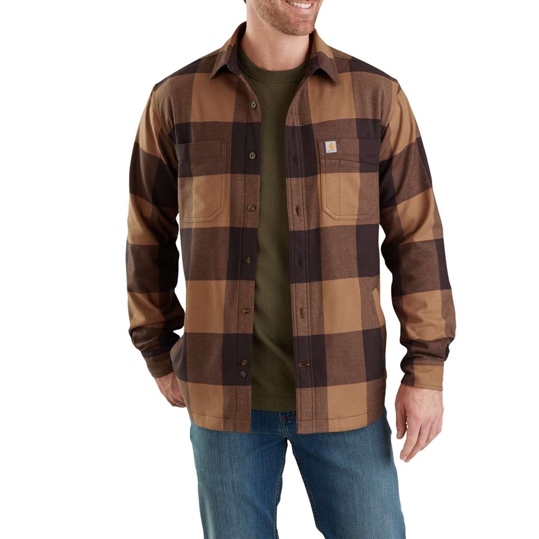 LinedLong Rugged Flex® Carhartt Fleece 103315 Shirt Sleevefor Men Hamilton Plaid 8wOn0PkX