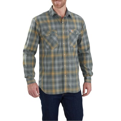 Flex® 103319 And FrontLong Shirt Snap Sleevefor Carhartt Tall Big Bozeman Men Rugged 7yYbf6vg