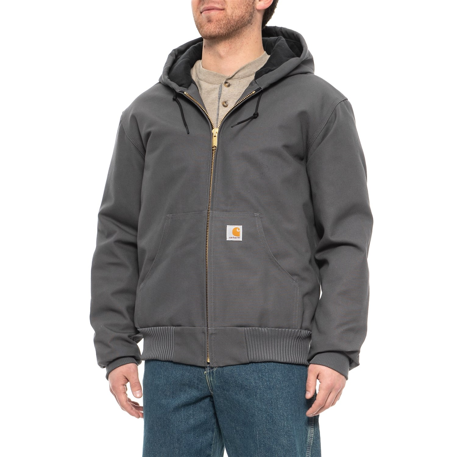 1b0e5d6da Carhartt 103940 Duck Active Jacket - Quilted Flannel Lining, Factory  Seconds (For Men)