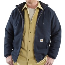 Carhartt 3-Season Sweatshirt - Zip Front, Quilt-Lined (For Tall Men) in New Navy - 2nds