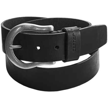 Carhartt 38mm Logo Loop Belt - Leather (For Women) in Black - Closeouts