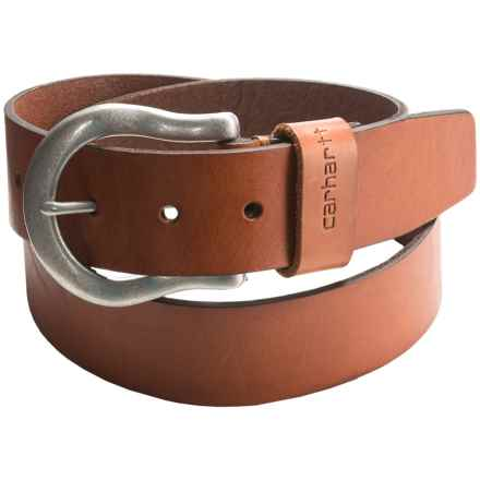 Carhartt 38mm Logo Loop Belt - Leather (For Women) in Brown - Closeouts