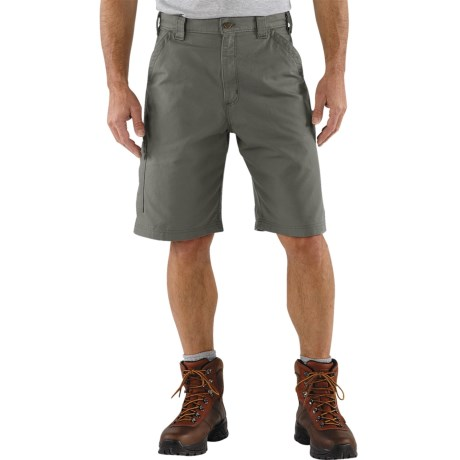 Carhartt 7.5 oz. Canvas Work Shorts - Factory Seconds (For Men) in Fatigue