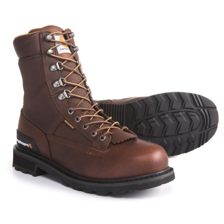 "Carhartt 8"" Low Logger Work Boots - Waterproof, Leather (For Men) in Camel Brown"