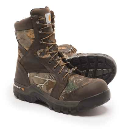 "Carhartt 8"" Rugged Flex Work Boots -  Composite Safety Toe, Waterproof, Insulated (For Men) in Camo - Closeouts"