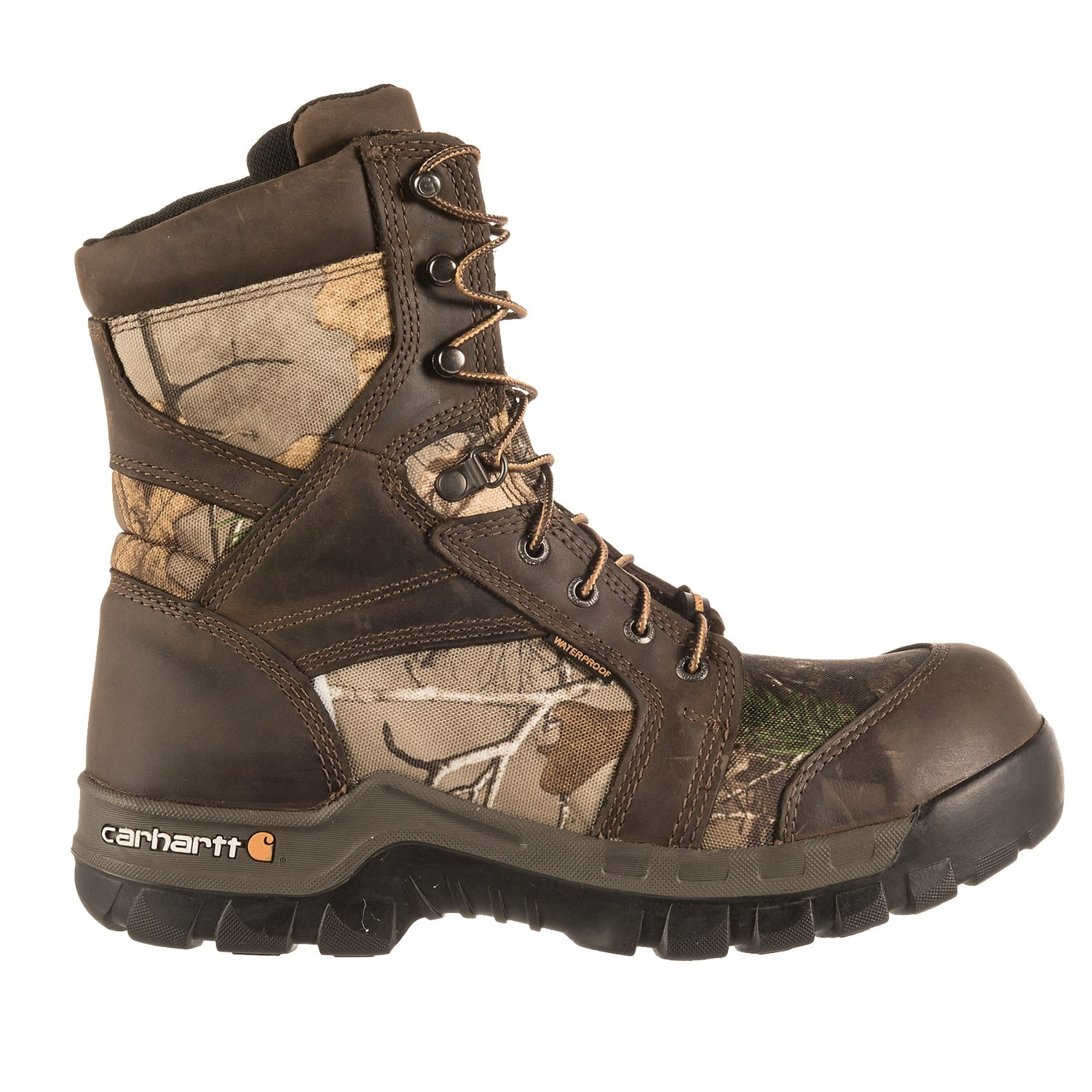 "Carhartt 8"" Rugged Flex Work Boots - Composite Safety Toe, Waterproof,  Insulated (For Men)"