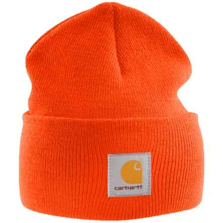 Carhartt Acrylic Watch Hat (For Men) in Bright Orange - 2nds