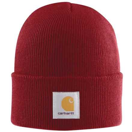 Carhartt Acrylic Watch Hat (For Men) in Dark Crimson - 2nds