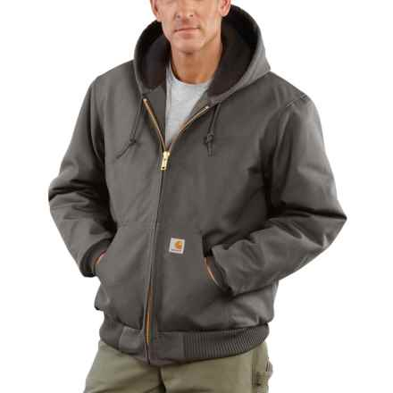 Carhartt Active Duck Jacket - Flannel Lined, Factory 2nds (For Big and Tall Men) in Gravel - 2nds