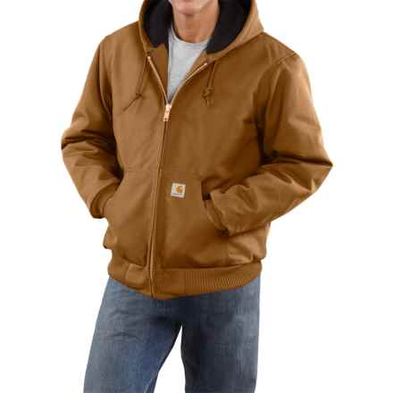 Carhartt Active Duck Jacket - Flannel Lined, Factory Seconds (For Men) in Carhartt Brown - 2nds