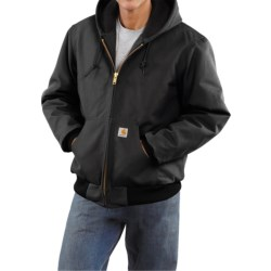 Carhartt Active Duck Jacket - Flannel-Lined, Factory Seconds (For Tall Men) in Black