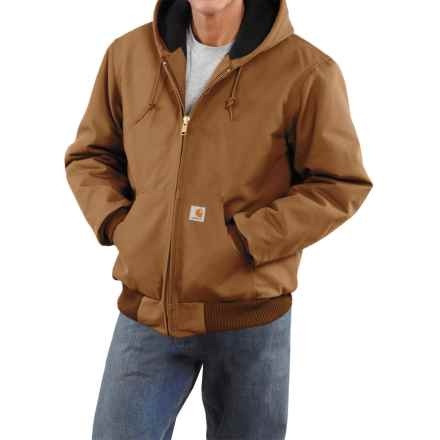 Carhartt Active Duck Jacket - Flannel-Lined, Factory Seconds (For Tall Men) in Carhartt Brown - 2nds