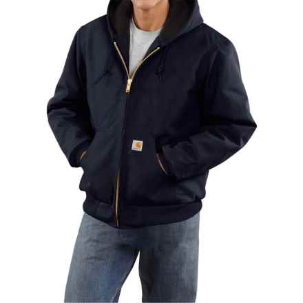 Carhartt Active Duck Jacket - Flannel-Lined, Factory Seconds (For Tall Men) in Dark Navy - 2nds