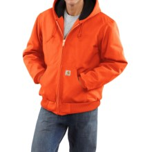 Carhartt Active Duck Jacket - Flannel-Lined (For Tall Men)  in Blaze Orange - 2nds