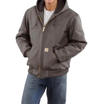 Carhartt Active Duck Jacket - Flannel-Lined (For Tall Men)  in Gravel - 2nds