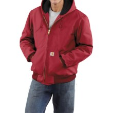 Carhartt Active Duck Jacket - Flannel-Lined (For Tall Men)  in Red - 2nds