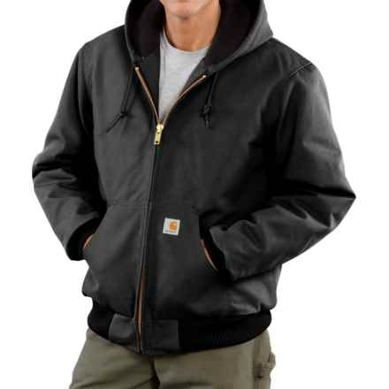 Carhartt Active Duck Jacket - Insulated, Factory Seconds (For Big Men) in Black - 2nds