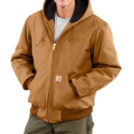Carhartt Active Duck Jacket - Insulated, Factory Seconds (For Big Men) in Carhartt Brown - 2nds