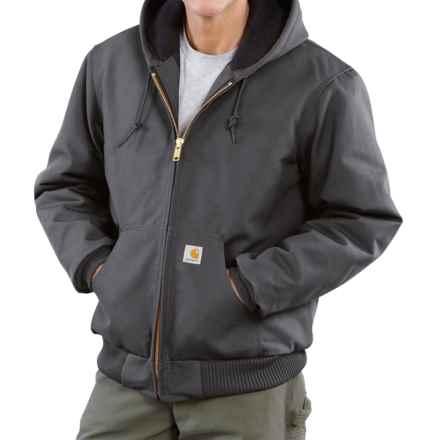 Carhartt Active Duck Jacket - Insulated, Factory Seconds (For Big Men) in Gravel - 2nds