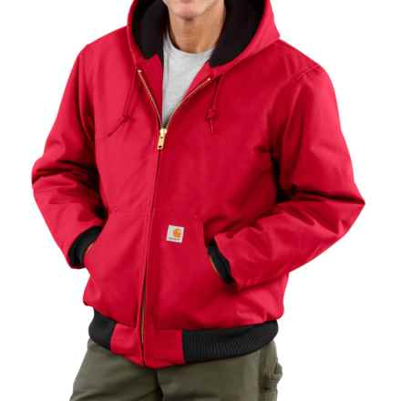 Carhartt Active Duck Jacket - Insulated, Factory Seconds (For Big Men) in Red - 2nds
