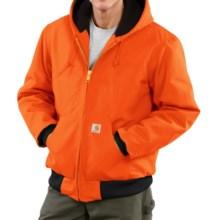 Carhartt Active Duck Jacket - Insulated (For Big Men) in Blaze Orange - 2nds