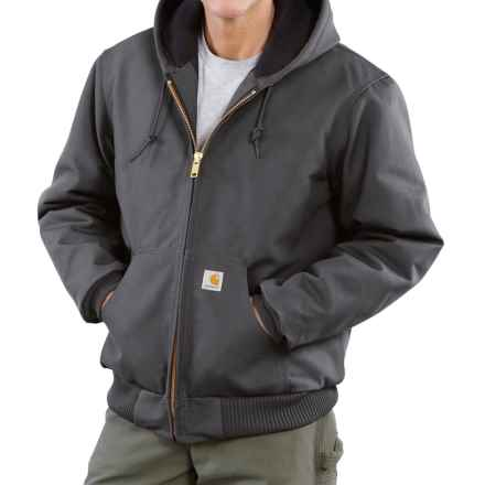 Carhartt Active Duck Jacket - Insulated (For Big Men) in Gravel - 2nds