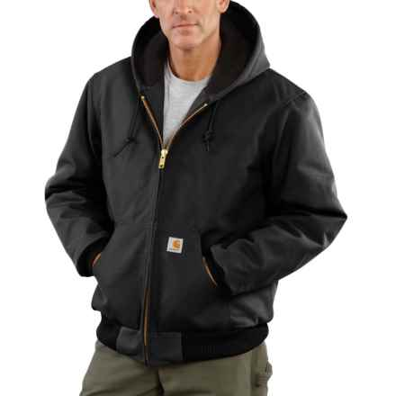 Carhartt Active Duck Jacket - Quilted Lined, Factory Seconds (For Men) in Black - 2nds