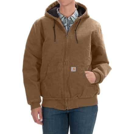 Carhartt Active Hooded Coat - Windproof, Factory Seconds (For Women) in Carhartt Brown - 2nds