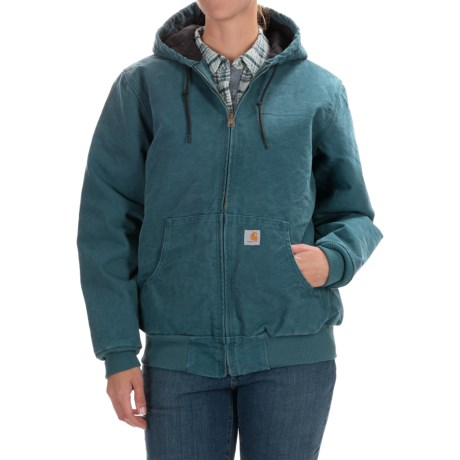 Carhartt Active Hooded Coat - Windproof, Factory Seconds (For Women) in Dark Teal