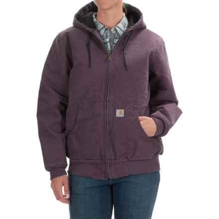 Carhartt Active Hooded Coat - Windproof, Factory Seconds (For Women) in Dusty Plum - 2nds