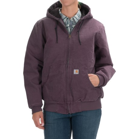 Carhartt Active Hooded Coat - Windproof, Factory Seconds (For Women) in Dusty Plum