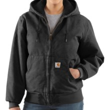 Carhartt Active Hooded Coat - Windproof (For Women) in Black - 2nds