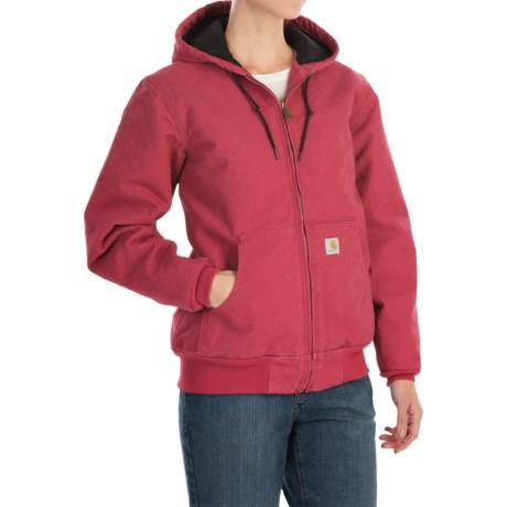 Carhartt Active Hooded Coat - Windproof (For Women) in Crab Apple