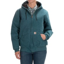Carhartt Active Hooded Coat - Windproof (For Women) in Dark Teal - 2nds