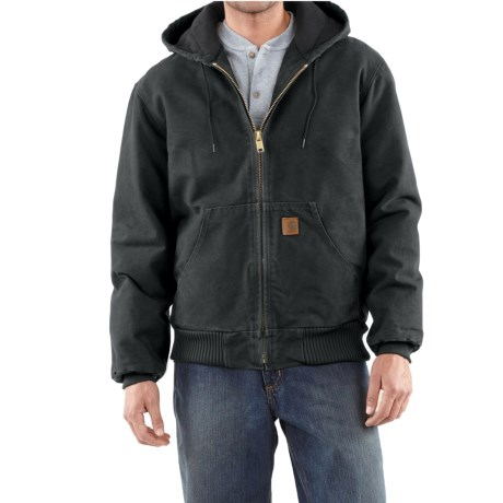 Carhartt Active Jacket - Quilt-Lined, Factory Seconds (For Tall Men) in Black