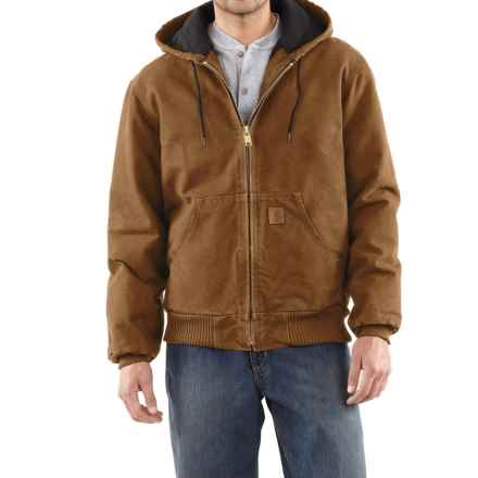 Carhartt Active Jacket - Quilt-Lined, Factory Seconds (For Tall Men) in Carhartt Brown - 2nds