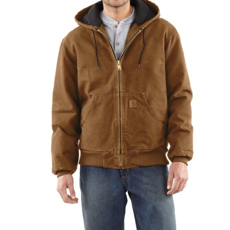 Carhartt Active Jacket - Quilt-Lined, Factory Seconds (For Tall Men) in Carhartt Brown
