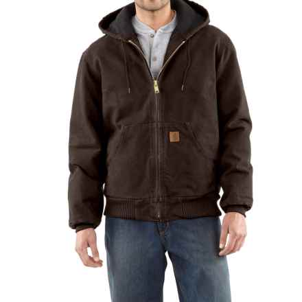 Carhartt Active Jacket - Quilt-Lined, Factory Seconds (For Tall Men) in Dark Brown - 2nds